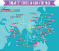 Infographic of Cheapest Asian Cities to Visit in 2017