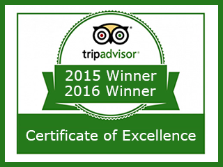 Tripadvisor Winner - Certificate of Excellence
