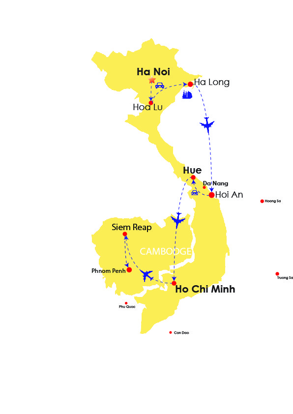 INDOCHINA DISCOVERY 17 DAYS